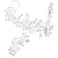 MERKLE DV-21 2 görgős előtoló rendszer – alkatrészrajz