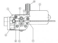 MERKLE 2-görgős (DV-21) precíziós előtolóegység – alkatrészrajz