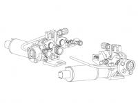MERKLE 4-görgős(DV-26) precíziós előtolóegység – alkatrészrajz