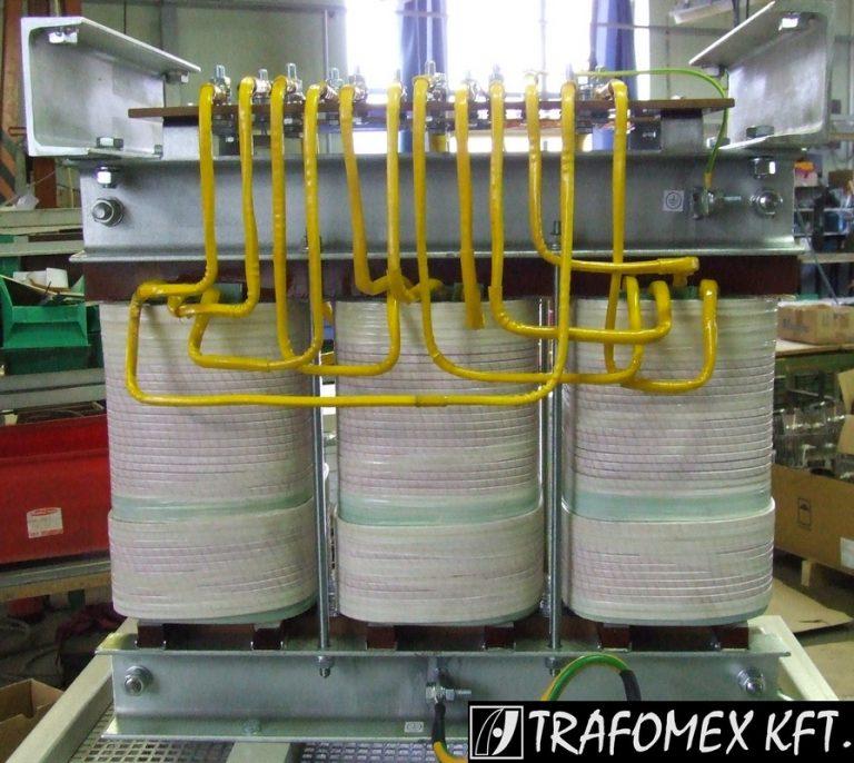 3 fázisú 80 kVA-os transzformátor a TRAFOMEX Kft.-től
